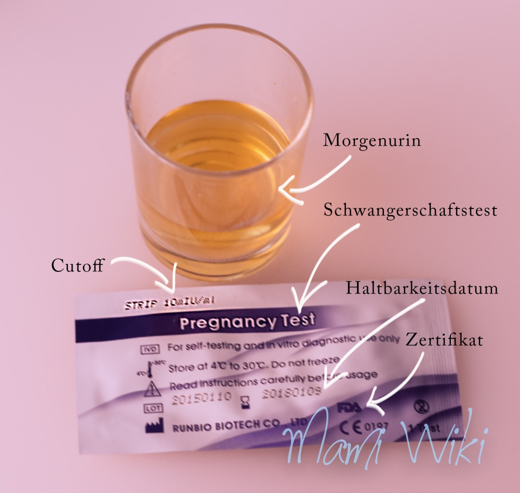 Cutoff Schwangerschaftstest